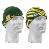 Green Bay Packers New EraZubaz reversible knit beanie