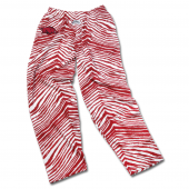 University Of Arkansas Maroon Zebra Pant