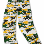Green Bay Packers GreenGold Camo Pant