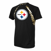 Pittsburgh Steelers Zebra Poly TShirt