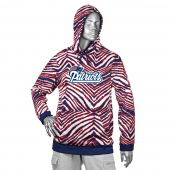 New England Patriots NavyRed Zebra Hoodies