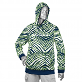 Seattle Seahawks NavyNeon Green Zebra Hoodies