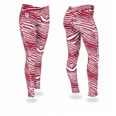 Indiana University New Maroon Zebra Legging