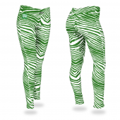University of North Dakota Kelly Green Zebra Legging
