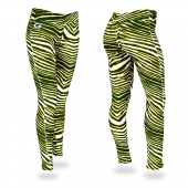 Green Bay Packers GreenGold Zebra Legging