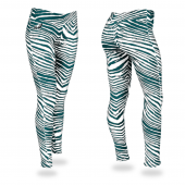 Philadelphia Eagles Pine Needle GreenMetallic Silver Zebra Legging