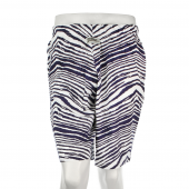 Navy Blue Zebra Short
