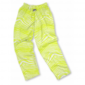 Florescent Yellow Zebra Pant