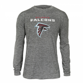 Mens Atlanta Falcons Gray Space Dye Long Sleeve Tshirt
