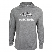 Mens Baltimore Ravens Gray Space Dye Light Weight Hoodie