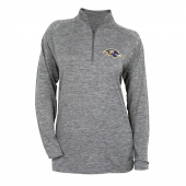 Womens Baltimore Ravens Gray Space Dye Quarter Zip Pullover