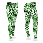 BlackNeon Green Zebra Legging