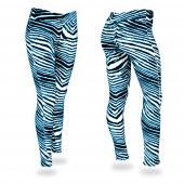 BlackFluorescent Blue Zebra Legging