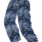 BlackElectric Blue Zebra Pant