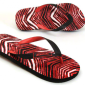 BlackRed Zebra Flip Flop