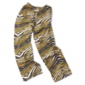 Univ West Virginia NavyGold Zebra Pant