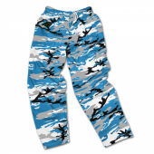 Carolina Panthers Screen Print Logo Camo Pants
