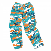 Miami Dolphins Screen Print Logo Camo Pants