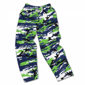 Seattle Seahawks Screen Print Logo Camo Pants