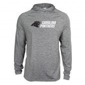 Mens Carolina Panthers Gray Space Dye Light Weight Hoodie