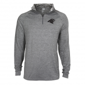 Mens Carolina Panthers Gray Space Dye Quarter Zip Pullover