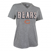Womens Chicago Bears Gray Space Dye Tshirt