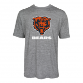Mens Chicago Bears Large GraphicLogo Gray Space Dye Tshirt