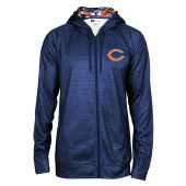 Chicago Bears Space Dye Full Zipper Hoodie