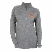 Womens Chicago Bears Gray Space Dye Quarter Zip Pullover