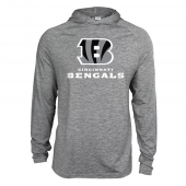 Mens Cincinnati Bengals Gray Space Dye Light Weight Hoodie