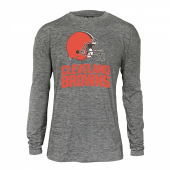 Mens Cleveland Browns Gray Space Dye Long Sleeve Tshirt
