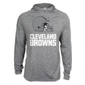 Mens Cleveland  Browns Gray Space Dye Light Weight Hoodie