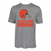 Mens Cleveland Browns Large GraphicLogo Gray Space Dye Tshirt
