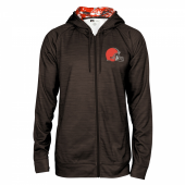 Cleveland Browns Space Dye Full Zipper Hoodie