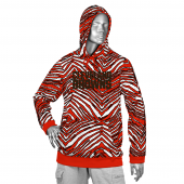 Cleveland Browns Fire RedBrown Zebra Hoodies
