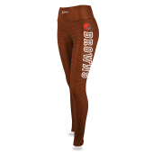 Womens Cleveland  Browns Faux Mesh Print Legging