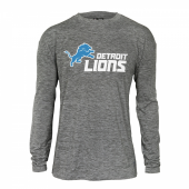 Mens Detroit Lions Gray Space Dye Long Sleeve Tshirt
