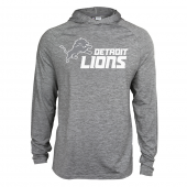 Mens Detroit Lions Gray Space Dye Light Weight Hoodie