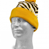 BLACKGOLD ZEBRA KNIT HAT