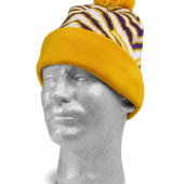 PURPLEGOLD ZEBRA KNIT HAT