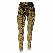 New Orleans Saints BlackBurnished Gold Gradient Legging