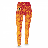 Washington Redskins MaroonGold Gradient Legging