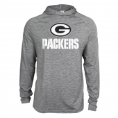 Mens Green Bay Packers Gray Space Dye Light Weight Hoodie