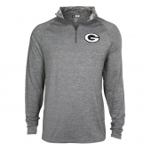 Mens Green Bay Packers Gray Space Dye Quarter Zip Pullover