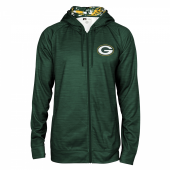 Green Bay Packers Space Dye Full Zipper Hoodie