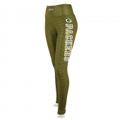 Womens Green Bay Packers Faux Mesh Print Legging