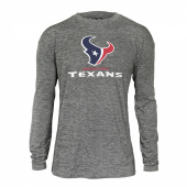 Mens Houston Texans Gray Space Dye Long Sleeve Tshirt