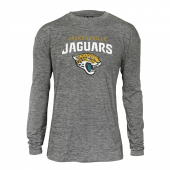 Mens Jacksonville Jaguars Gray Space Dye Long Sleeve Tshirt