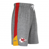 Kansas City Chiefs Gray Space Dye Short With Stripe
