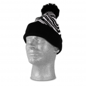 BLACKWHITE ZEBRA KNIT HAT